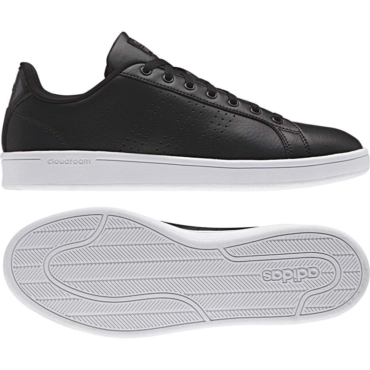 adidas cloudfoam advantage clean sneakers zwart dames