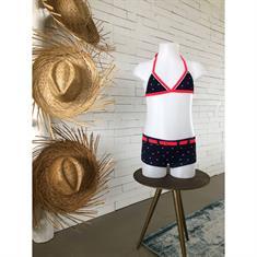 Bomain Structure Stripe Shorty Bikini Junior