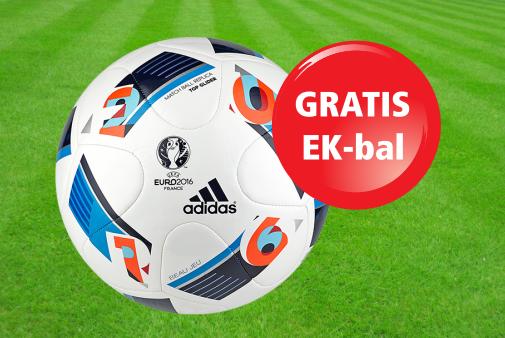 1ea872d48eb Tot en met zondag 21 augustus krijg je een gratis EK-bal (UEFA EURO 2016™ Top  Glider voetbal) ...