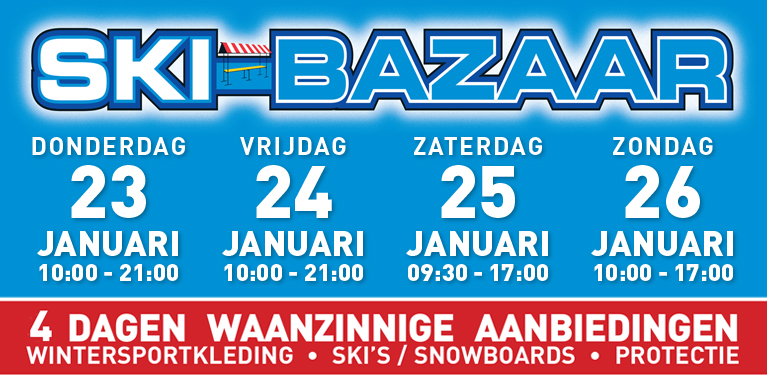 Skibazaar bij Intersport Biggelaar