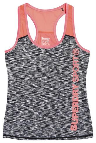 Superdry Core Fitted Mesh Panel Singlet